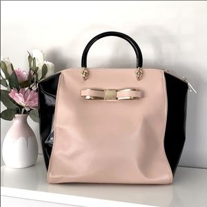 Ted Baker Patent Blocked Bow Leather Tote